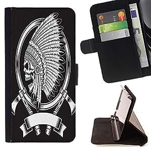 King Case - FOR LG OPTIMUS L90 - Sharp tools make good work - Prima caja de la PU billetera de cuero con ranuras para tarjetas, efectivo Compartimiento desmontable y correa para la mu?eca