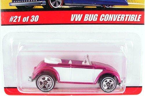 2006 Hot Wheels Classics Series 2 VW Bug Convertible Pink/White #21/30