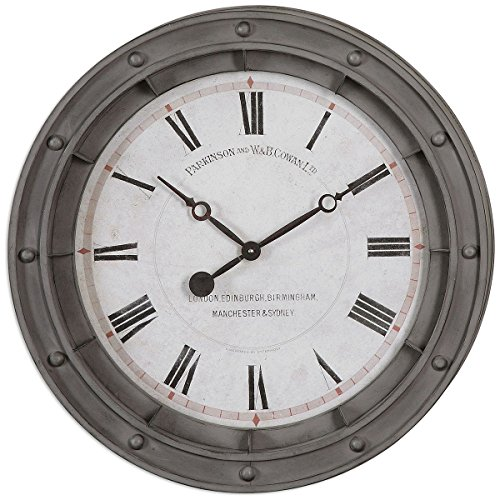 Uttermost 06092 Porthole Wall Clock (Hudson Metal Clock)