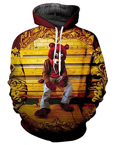 Hale Tomlinson Unisex Kanye West Hoodie Sweatshirts 3D Printed Pullovers Hooded Hoody Medium