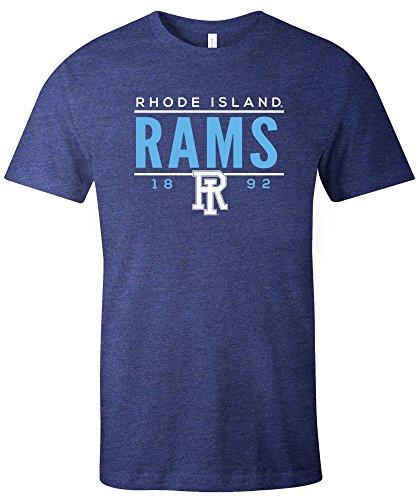 NCAA Rhode Island Rams Tradition Short Sleeve Tri-Blend T-Shirt, Navy,Large