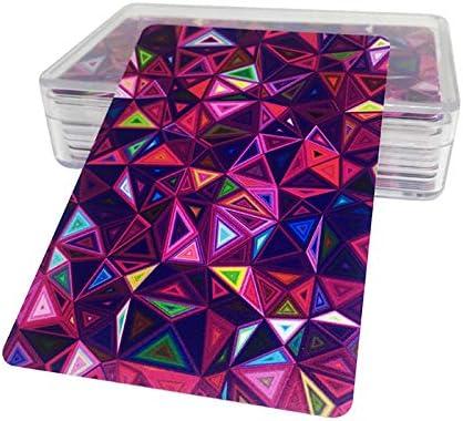 5 Styles,Diamond LeerKing Waterproof Playing Cards Poker Plastic Playing Cards Packs Bridge Standard Size for Card Game