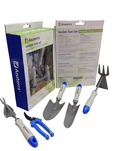 Gardening tools 5 piece garden tool set trowel for Garden tool set for women