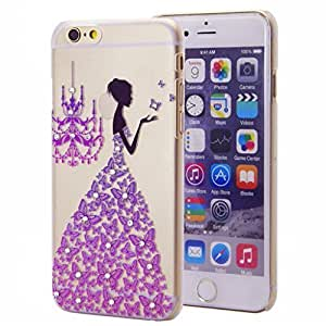 For Iphone 5C Cover Case 5.5 AFYCOLOR Hard PC Material with 4D UV Embossing Craft Print - Aztec Flower Series of Purple Flowers