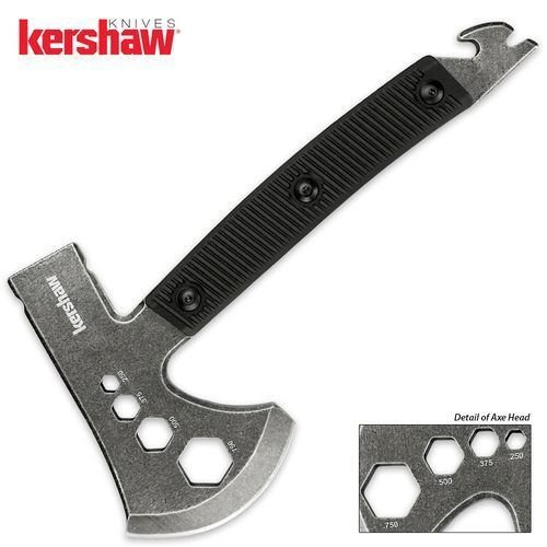 KERSHAW – 10.25 Tinder Ax G'Store Multi-Tool hatchet BLACKWASH camp Axe knife 1071BW