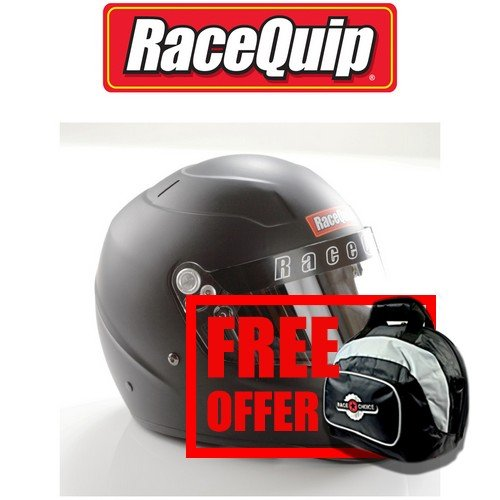 RaceQuip 273992 Flat Black Small PRO15 Full Face Helmet (Snell SA-2015 Rated) - Free Deluxe Helmet Bag Included ()