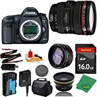 Great Value Bundle for 5D MARK III DSLR – 24-105MM L + 16GB Memory + Wide Angle + Telephoto Lens + Case