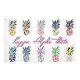 Kappa Alpha Theta Pop Art Pineapple Sorority Flag Greek Letter Use as a Banner 3 x 5 Feet Sign Decor Theta