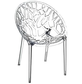 Moderne Matière Transparente Alterego En Chaise 'geo' Plastique hstQrdCx