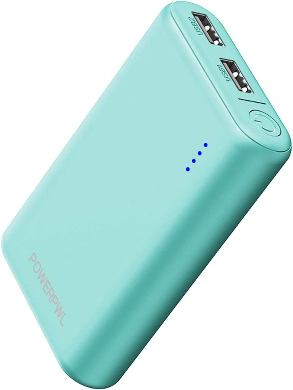 (Pocket-Size) Portable Charger Quick Charge POWEROWL (10000mAh, Dual High-Speed Output, Universal) Lightest Travel Power Bank, External Battery Pack for Smartphone