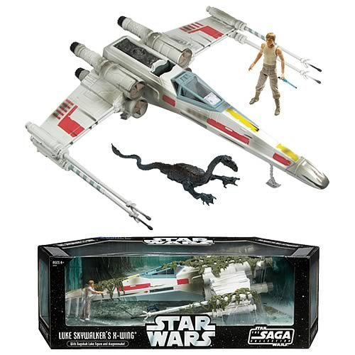 Star Wars X-Wing Fighter Vehicle with Luke Skywalker Figure