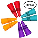 8 pcs of Wine Stoppers, CNYMANY Reusable Silicone Beverage Bottle Sealer Replacement with Grip Top for Cork to Keep the Wine Fresh - Red, Blue, Orange, Purple