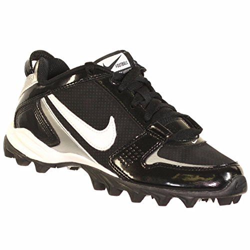 NIKE LAND SHARK LEGACY LOW BG YOUTH BASEBALL CLEATS BLACK WHITE 4Y by NIKE
