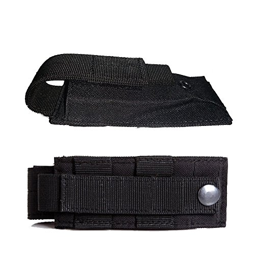 LefRight(TM High Explosive Single Mag Flashlight/Tool Knife Cartridge Clip Bullet Holster Belt Pouch Sheath