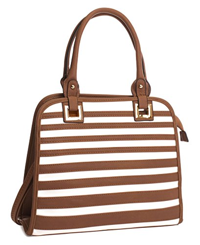 Shop Tan Bolsa Big White Handbag Mujer amp; n0a5wOOqTx