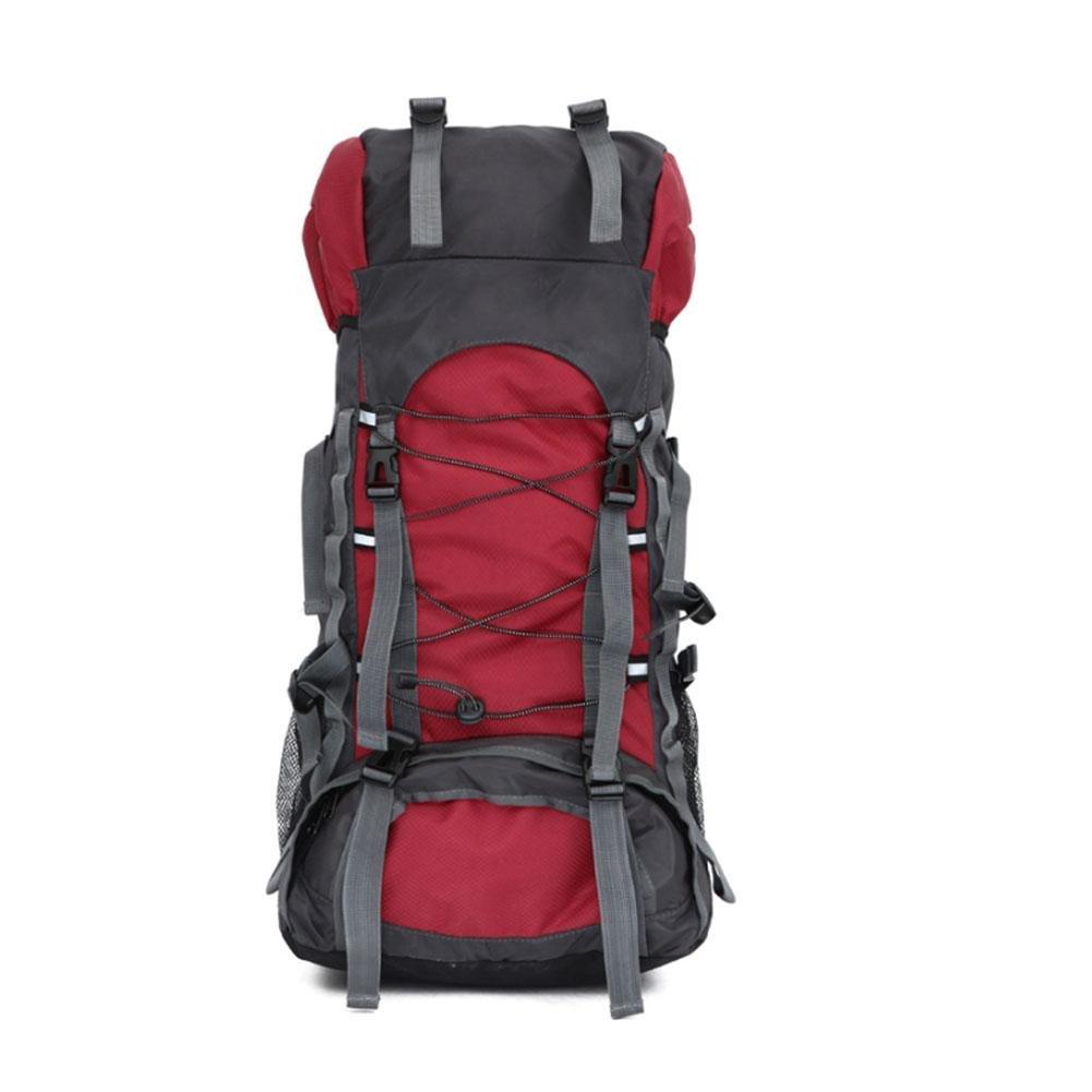 L&KKSac à dos de sport en plein air   Imperméable et durable Camping Voyage sac à dos , rouge