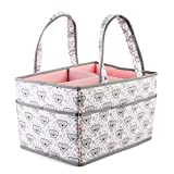 Large Baby Diaper Caddy Organizer: Storage for Diapers, Wipes & More (pink) Image
