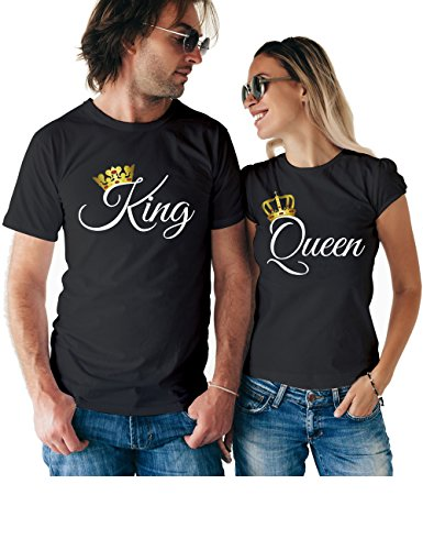 King Queen Matching Couple T Shirts - His and Hers Custom Shirts - Couples Outfits for Him and Her