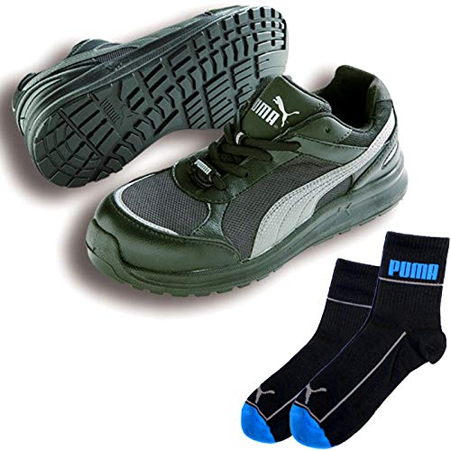 PUMA(プーマ) 安全靴 スプリント ロー 26.5cm ブラック PUMA ソックス 靴下付セット 64.333.0  B07QMKDNWQ