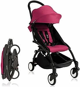 Amazon.com: BabyZen 2017 Yoyo + Stroller Black Frame (Pink ...