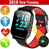 Fitness Activity Tracker Watch for Men Women with Bluetooth Heart Rate Blood Pressure Sleep Monitor iGeeKid Sport Wristbands Pedometer Calorie for Summer Travel Outdoor Running Android ios Phones