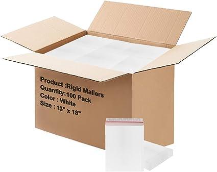 Paquete de 100 correos rígidos de 13 x 18 pulgadas para papel de 13 x 18