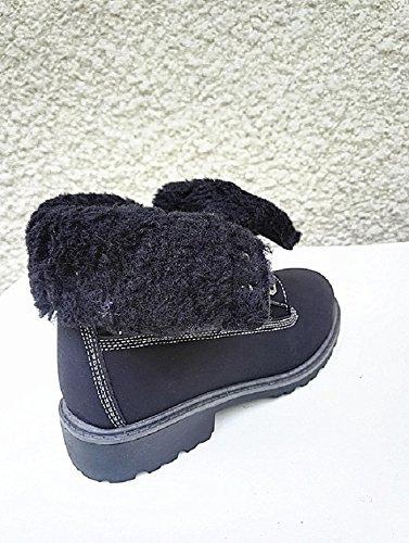 Ragazza Hot Fashion Stivali Pelliccia Aumento Nero Di Farcito Sneakers Donna Stivali V61 wEYgnCz8qw