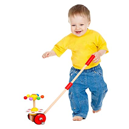 Amazoncom O Toys Baby Walker Wooden Push And Pull Walking Toy Push