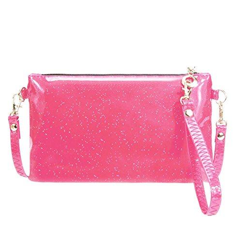 Ecotrump Rose Women Wristlets Shoulder Mini Crossbody Clutch PU Coin Bag Zipper Red Sequins rrqpU