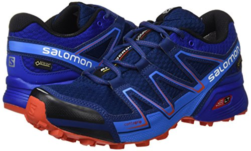 Salomon Hastighed Tværs Vario Gtx Trail Løbesko Mænd Blå / Rød 4ss10lZ4B