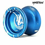 Magic YoYo N12 Shark Honor Unresponsive Yo-yos Set Metal Professional Yo Yo Gift Blue & White