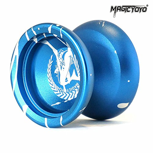 Magic YoYo N12 Shark Honor Unresponsive Yo-yos set Metal Professional Yo Yo Gift Blue & White by MAGICYOYO