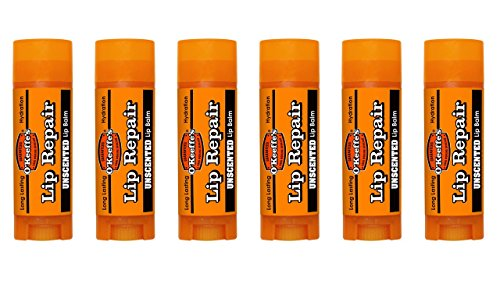 Repair Stick (O'Keeffe's Original Lip Repair Lip Balm for Dry, Cracked Lips,  Stick, (Pack of 6))