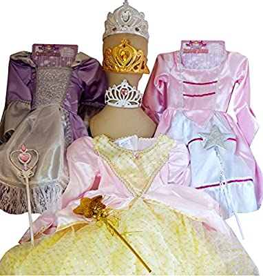 Forum Novelties Pretty Princess Dress Up Kit with Three Deluxe Dresses & Accessories Costume [Amazon Exclusive] from Forum Novelties