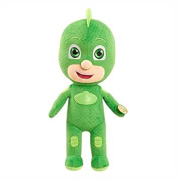 Dickie-Spielzeug PJ Masks - Functional Plush Figura Felpa Gecko con Luz y Sonido
