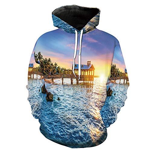Fashion 3D Print Casual Tracksuit Jogging Sportswear USA Tropical Summer Paradise -