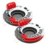 Intex River Run 1 53' Inflatable Floating Water Tube Lake Raft, Red (2 Pack)