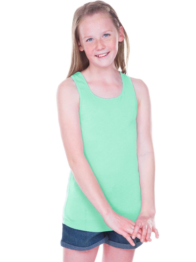 d0811cdccb4b45 Kavio! Girls 7-16 Sheer Jersey Scoop Neck Tank Ice Green S
