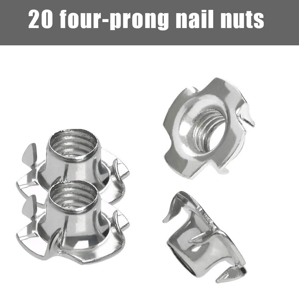 36mm YOTINO 20 Pieds de Nivellement R/églables pour Meubles et Tables Vis M8