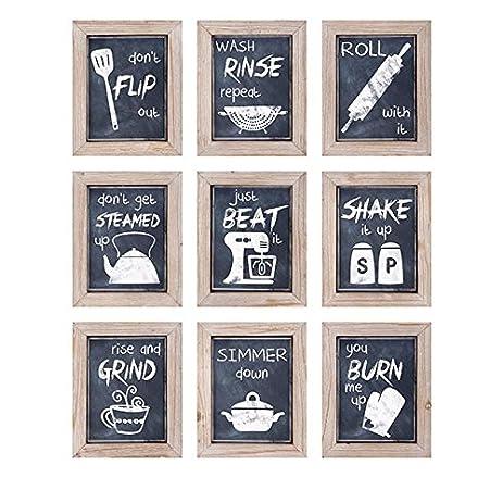 Amazon.com: 9-Pc Kitchen Inspirations Wall Decor Set: Wall Art