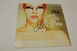 Pink P!nk Signed Autograph Album Vinyl Record - Can't Take Me Home, Sexy Singer - Music Albums