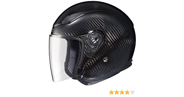 Amazon.com: Joe Rocket RKT-Carbon Pro Open Face Carbon Fiber Motorcycle Helmet (Black/Titanium, Medium): Automotive