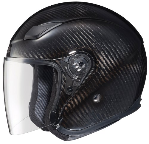 Joe Rocket RKT-Carbon Pro Open Face Carbon Fiber Motorcycle Helmet (Black/Titanium, Medium)
