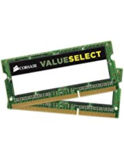 Corsair CMSO8GX3M2C1600C11 Value Select 8GB (2x4GB) DDR3 1600Mhz CL11 Mainstream SODIMM Notebook Memory Kit -Green