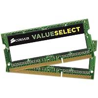 Corsair 2X 4GB, DDR3L, 1600MHz módulo de - Memoria (DDR3L, 1600MHz, 8 GB, 2 x 4 GB, DDR3, 1600 MHz, 204-pin SO-DIMM, Verde)
