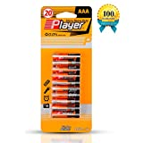 Player AAA 1.5V Carbon Batteries,(20 PACK)