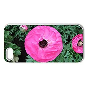 Flowers Symbolizing Strength 05 - Case Cover for iPhone 5 and 5S (Flowers Series, Watercolor style, White)