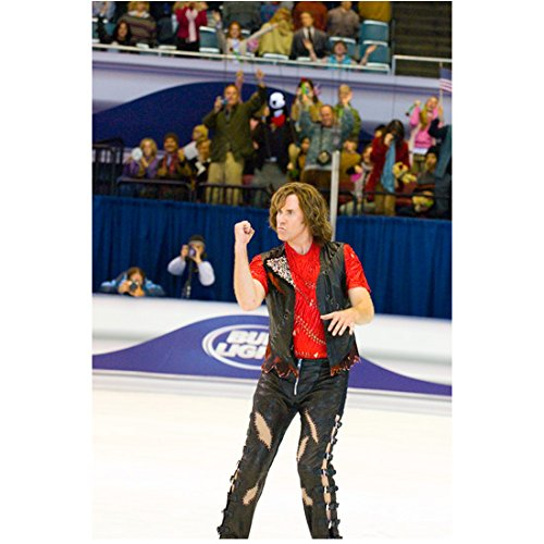 [Blades of Glory Will Ferrell as Chazz Michael Michaels in black leather costume 8 x 10 Inch Photo] (Will Ferrell Semi Pro Costume)