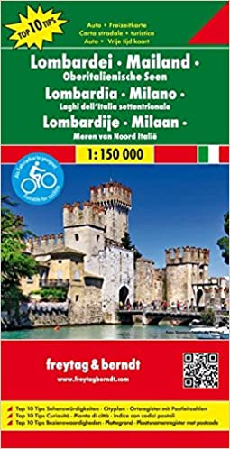 Map Of Italy Lakes Region.Lombardy Milan Lakes In Northern Italy Road And Leisure Map
