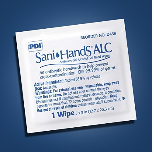 Hand Sanitizing Individual Wipes (MCK43601100 - Professional Disposables Sanitizing Skin Wipe Sani-Hands ALC Individual Packet Alcohol)